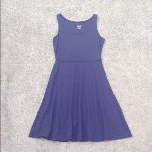 MOSSIMO Navy Sleeveless Dress Chevron Detail XS